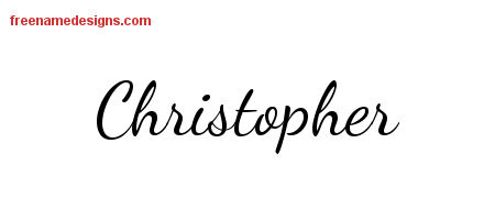 Lively Script Name Tattoo Designs Christopher Free Download
