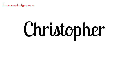 Handwritten Name Tattoo Designs Christopher Free Printout