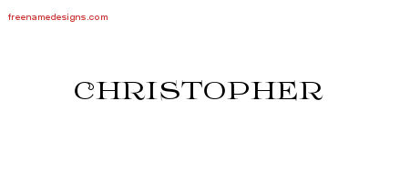Flourishes Name Tattoo Designs Christopher Printable