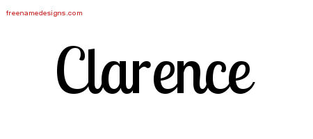 Handwritten Name Tattoo Designs Clarence Free Printout