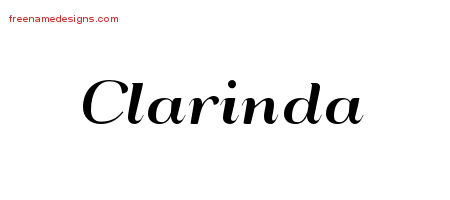 Art Deco Name Tattoo Designs Clarinda Printable