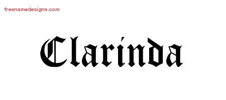 Blackletter Name Tattoo Designs Clarinda Graphic Download