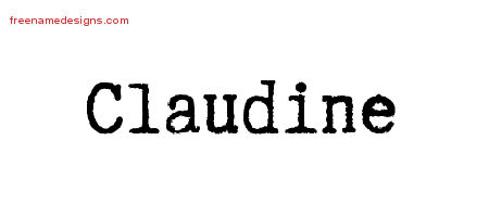 Typewriter Name Tattoo Designs Claudine Free Download