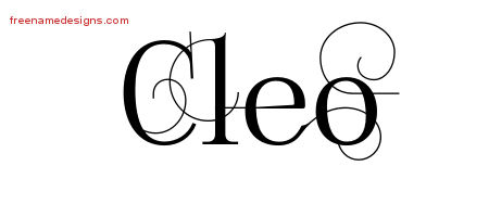 Decorated Name Tattoo Designs Cleo Free Lettering