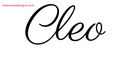 Classic Name Tattoo Designs Cleo Graphic Download