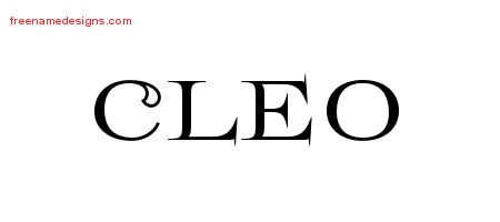 Flourishes Name Tattoo Designs Cleo Graphic Download
