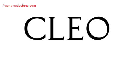 Regal Victorian Name Tattoo Designs Cleo Graphic Download