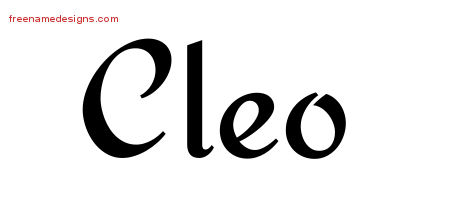 Calligraphic Stylish Name Tattoo Designs Cleo Download Free