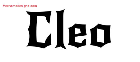 Gothic Name Tattoo Designs Cleo Free Graphic