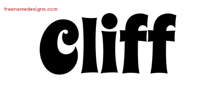Groovy Name Tattoo Designs Cliff Free