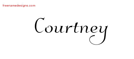 Elegant Name Tattoo Designs Courtney Free Graphic