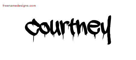 Graffiti Name Tattoo Designs Courtney Free