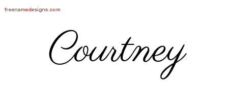 Classic Name Tattoo Designs Courtney Graphic Download