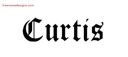 Blackletter Name Tattoo Designs Curtis Graphic Download