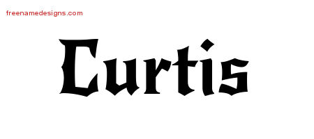 Gothic Name Tattoo Designs Curtis Download Free