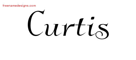 Elegant Name Tattoo Designs Curtis Free Graphic