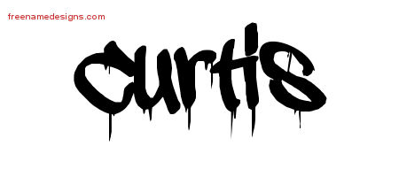 Graffiti Name Tattoo Designs Curtis Free Lettering
