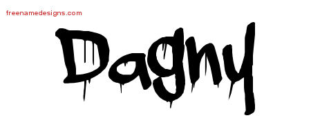 Graffiti Name Tattoo Designs Dagny Free Lettering