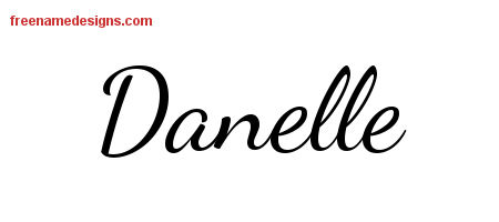 Lively Script Name Tattoo Designs Danelle Free Printout