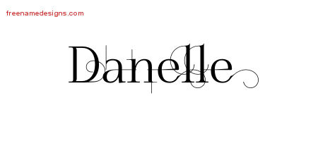 Decorated Name Tattoo Designs Danelle Free