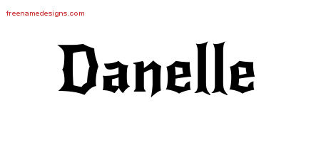 Gothic Name Tattoo Designs Danelle Free Graphic