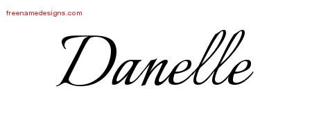 Calligraphic Name Tattoo Designs Danelle Download Free