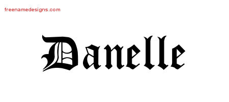 Blackletter Name Tattoo Designs Danelle Graphic Download