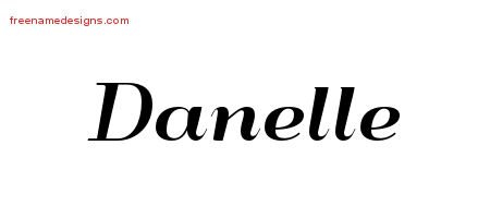 Art Deco Name Tattoo Designs Danelle Printable