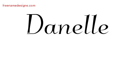 Elegant Name Tattoo Designs Danelle Free Graphic