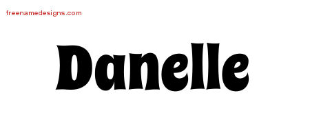 Groovy Name Tattoo Designs Danelle Free Lettering