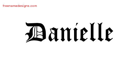 The Name Danielle In Bubble Letters