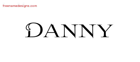 Flourishes Name Tattoo Designs Danny Graphic Download