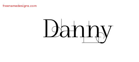 Decorated Name Tattoo Designs Danny Free Lettering
