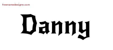 Gothic Name Tattoo Designs Danny Download Free