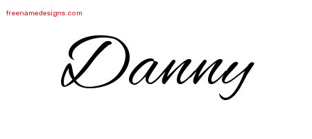 Cursive Name Tattoo Designs Danny Free Graphic