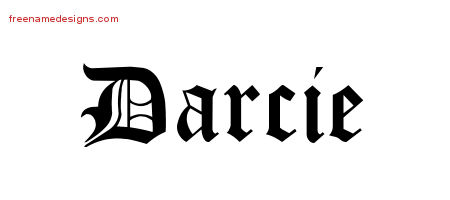Blackletter Name Tattoo Designs Darcie Graphic Download