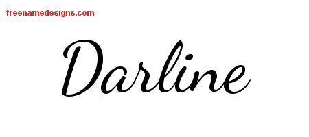 Lively Script Name Tattoo Designs Darline Free Printout