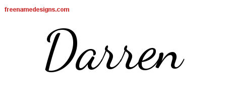 Lively Script Name Tattoo Designs Darren Free Download