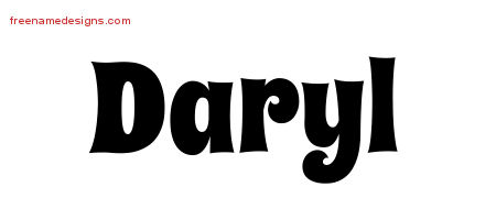 Groovy Name Tattoo Designs Daryl Free