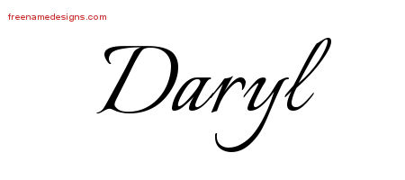 Calligraphic Name Tattoo Designs Daryl Free Graphic