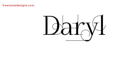 Decorated Name Tattoo Designs Daryl Free Lettering