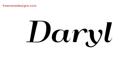 Art Deco Name Tattoo Designs Daryl Printable