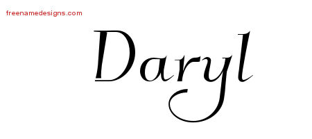 Elegant Name Tattoo Designs Daryl Download Free
