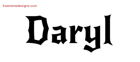 Gothic Name Tattoo Designs Daryl Download Free