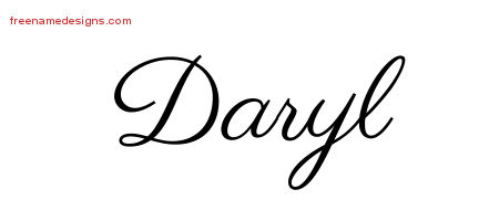 Classic Name Tattoo Designs Daryl Graphic Download