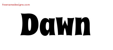 Groovy Name Tattoo Designs Dawn Free Lettering