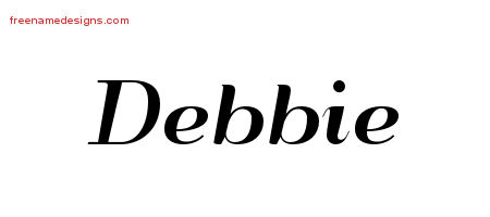Art Deco Name Tattoo Designs Debbie Printable