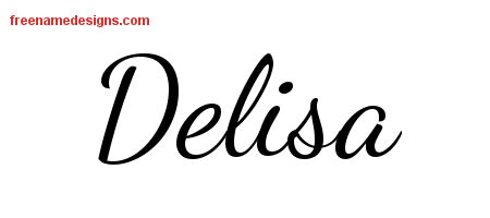 Lively Script Name Tattoo Designs Delisa Free Printout