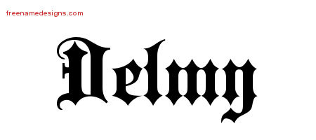 Old English Name Tattoo Designs Delmy Free