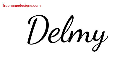 Lively Script Name Tattoo Designs Delmy Free Printout